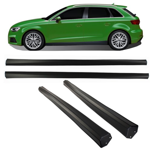 Seitenschweller Set ABS passend für A3 8V Facelift Sportback passend für Audi A3 8V Facelift (Sportback), Bj. 2016-2020