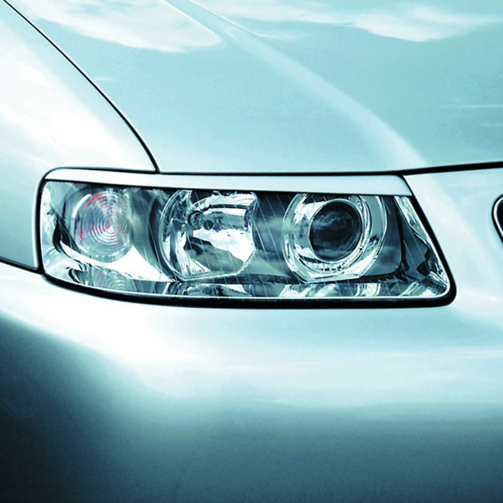 Scheinwerferblenden, ABS Kunststoff Böser Blick passend für Audi A3 Facelift 09/00-