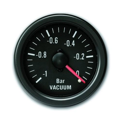 Zusatzinstrument YoungTimer, Unterdruck/ Vakuum, schwarz Ø52mm