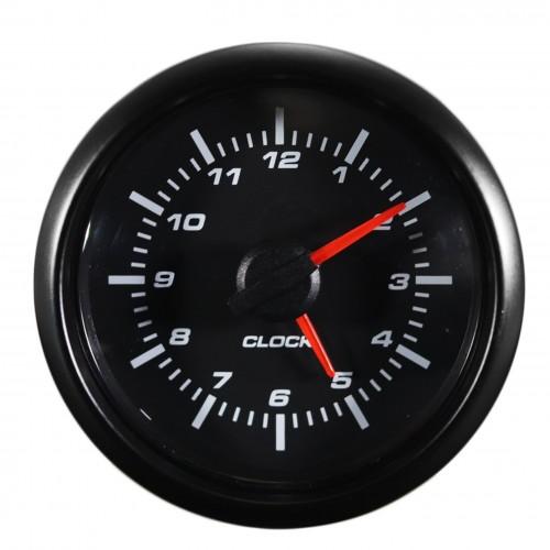 Horloge De Voiture Universel Tableau De Bord Horloge Compteur avec sonde, Ø52mm LED Blanche vitre bombé - Qualité Allemande