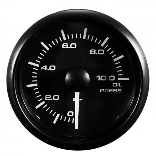 Zusatzinstrument Öldruckmesser  weiss oder gelb beleuchtet umstellbar incl. Sensor 52 mm
