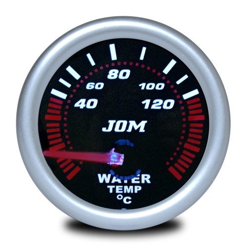 Gauge, water temperature, black reflecting cover glass