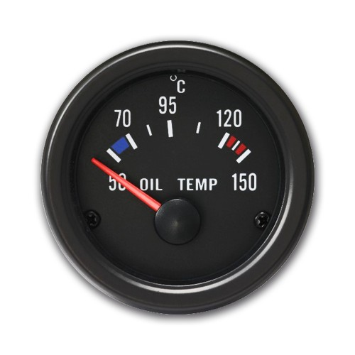 Gauge, oil temperature (50~150°C), black, Ø52mm
