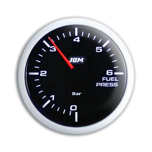 Zusatzinstrument, Noir, Kraftstoffdruck, schwarz,  mit weißer LED Skala, dimmbar,  Ø52mm