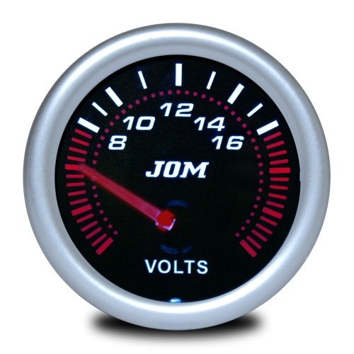 Gauge, Volt, black reflecting cover glass