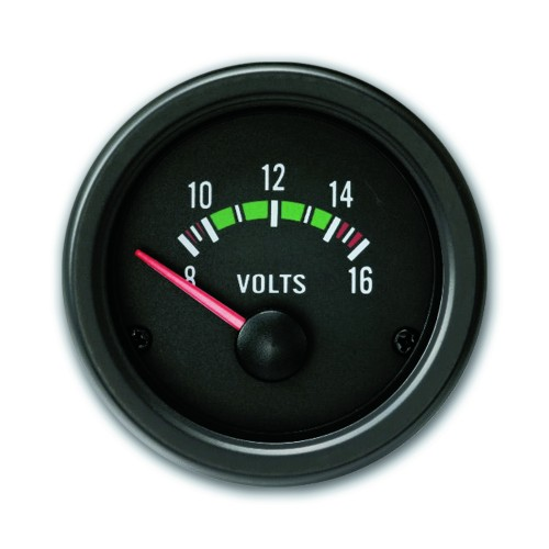 Gauge, Volt, black, Ø52mm