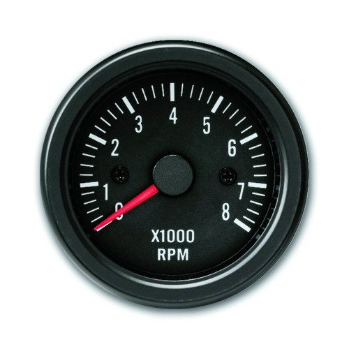Gauge, RPM gauge, 0~8.000RPM, black, Ø52mm