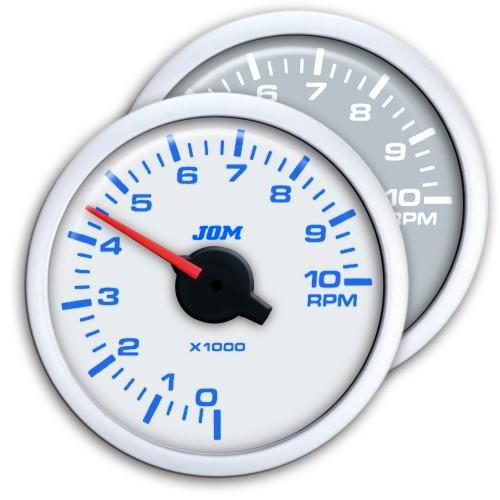 Gauge, Dynamic, RPM gauge, 0~10.000RPM, adjustable for 1-10 cylinders, stepper motor, 2-colour LED scale shiftable, Ø52mm