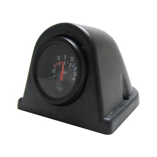 Gauge mounting pod, dash top, single, black