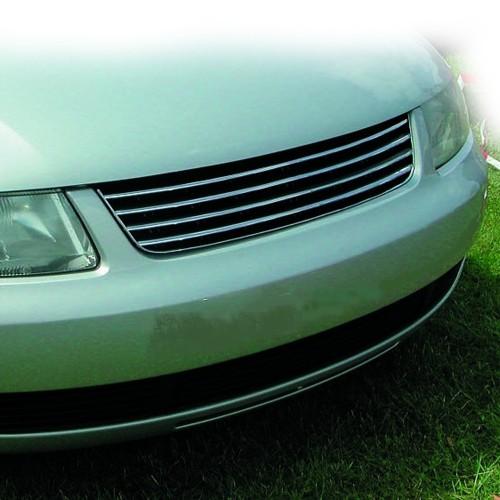 Kühlergril, Sportgrill, ohne Emblem, schwarz / chrom passend für VW Passat 3B 96-00