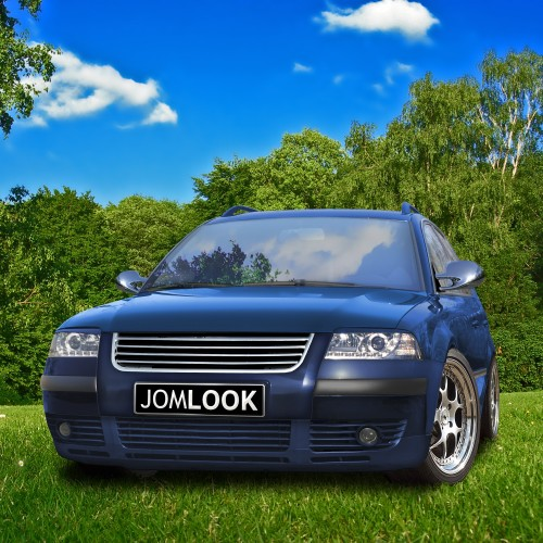 Kühlergrill ohne Emblem, komplett chrom passend für VW Passat 3BG ab Baujahr 2000 -