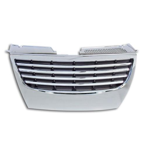 Kühlergrill ohne Emblem, Chrom passend für VW Passat 3C ab Baujahr 04.2005-
