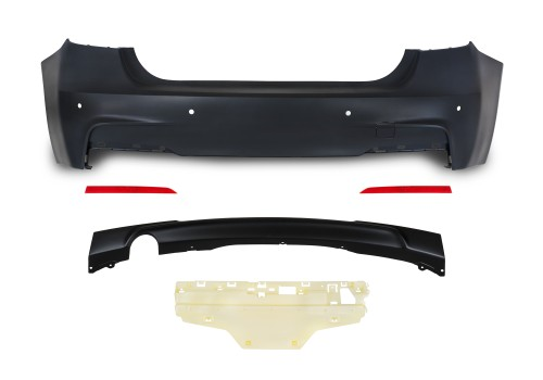 Rear bumper in sports-design with PDC holes suitable for BMW 3er F30 year 10.2011-