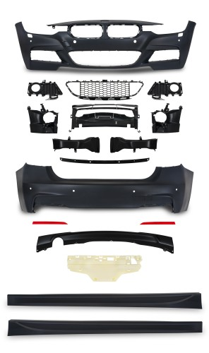 Body Kit incl. side skirts with HCS and PDC holes suitable for BMW 3er F30 ( LCI )  year  05.2015-
