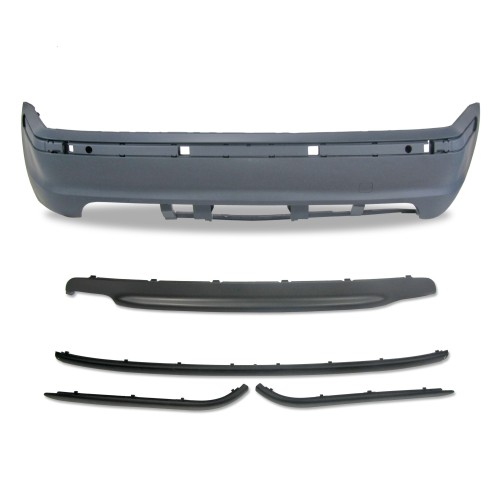 Rear bumper in sports design suitable for BMW 3er E46 4-doors year 5.1998 - 2005