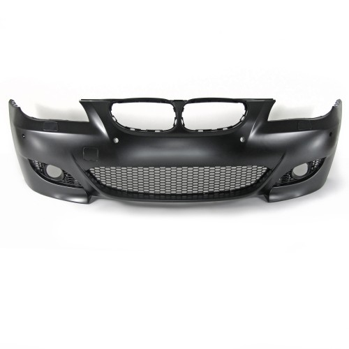 Front bumper in sports design with PDC holes suitable for BMW 5er E60 Limousine year 07.2003 - 03.2007 and E61 Touring year 06.2004 - 03.2007