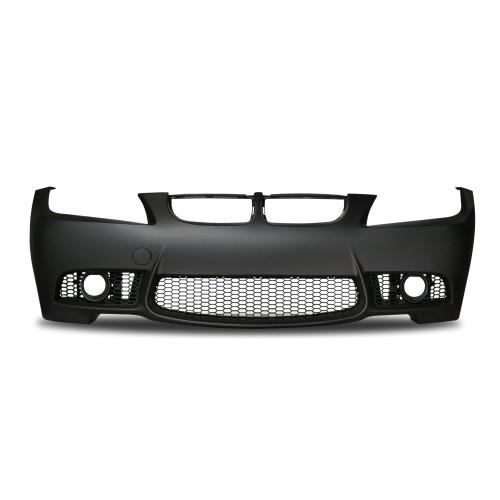 Frontstoßstange im Sport-Design mit PDC-Markierungen und Nebelscheinwerfereinsätzen passend für BMW 3er E90 Limousine und E91 Touring Baujahr 2008 - 2011
