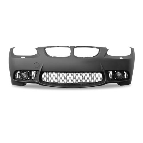 JOM Pare-chocs compatible avec BMW E92 Coupé 9/06-09, BMW E93 Cabrio 3/07-03/2010 look Sport, trous PDC marqués , sans sortie d'anti brouillard : 82331- Qualité Allemande