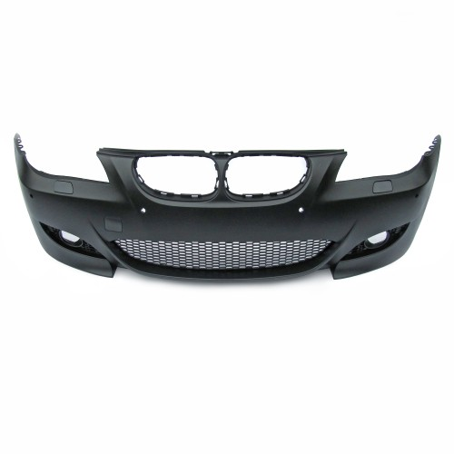 Front bumper, JOM, BMW E60 Facelift By. 03.2007-03.2010, with cuttings for headlight cleaning system and PDC, sport look