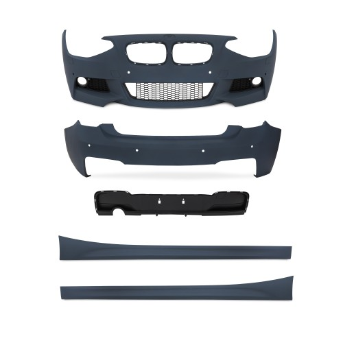Bod Kit in sports design incl. side skirts with PDC holes and HCS suitable for BMW 1er F20 year 2011-