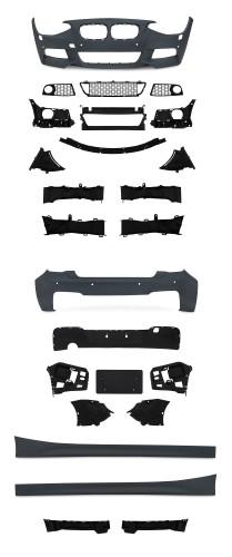 Stoßstangen Kit, JOM, BMW F20/21, 2011-, VA/ HA Stoßstange, Seitenschweller, mit PDC/ SRA, Sport Paket passend für boBMW 1er F20/21, 2011-2015