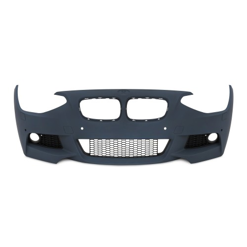 Front bumper in sports design  with PDC-holes and HCS suitable for BMW 1er F20 year 09.2011 - 2015