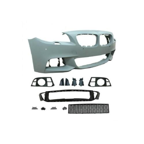 Frontstoßstange im Sport-Design mit SRA und PDC-Borhungen passend für BMW 5er F10 Limousine LCi  und F11 Touring LCi Baujahr 2013 - 2017