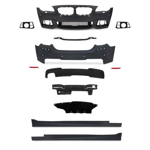 Stoßstangen Kit im Sport-Design inkl. Seitenschweller mit PDC-Bohrungen passend für BMW 5er F10 LCi Bj. 2013-2017