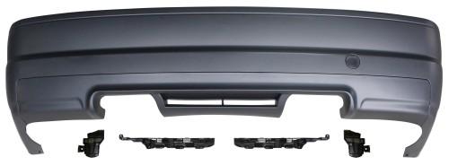 Heckstoßstange im Sport-Design passend für BMW E46 2türer, 98-04, ohne PDC Aussparungen