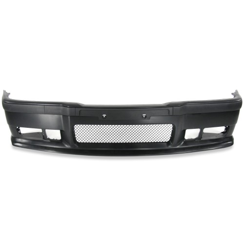 Front bumper ins sports design with removeabel racing grid and spoiler suitable for BMW 3er E36 year 1990 - 1998