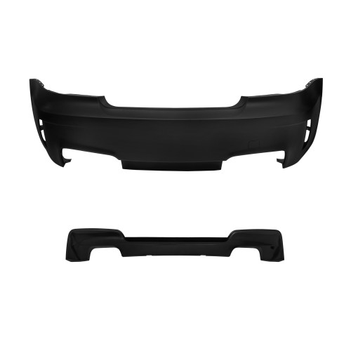 Bumper, JOM, rear BMW E82 without PDC, 07-11, only for dual exhaust system suitable for BMW E82, 07-11