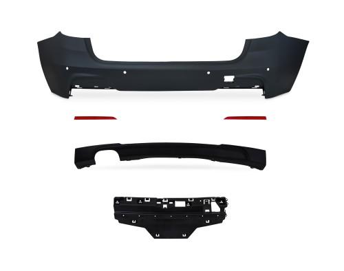 Heckstoßstange im Sport-Design mit PDC-Bohrungen passend für BMW F31 Touring ab Baujahr. 2012-2015