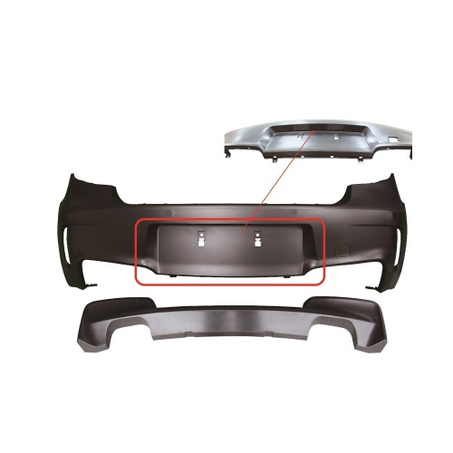 Rear bumper in sports design suitable for BMW 1er E81 and E87 year 2004-2011