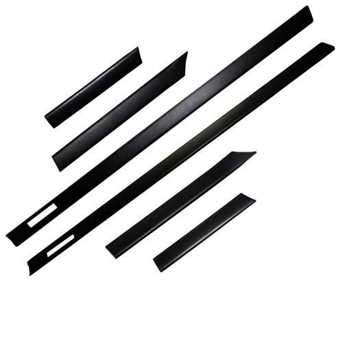 Seitenleisten Türleisten für E36 Coupe Cabrio schwarz 6 teilig passend für passend für E36, 3er,  Coupe/ Cabrio,1992 - 1998