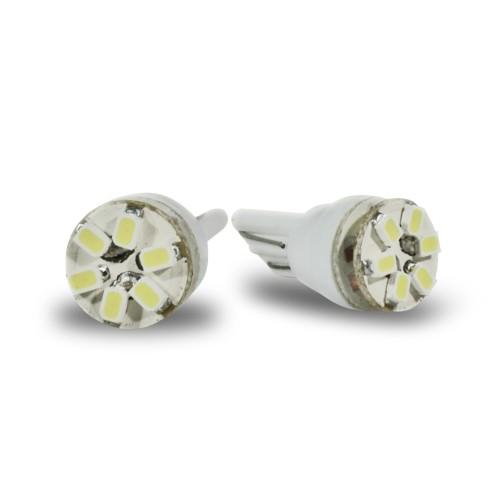 Ampoules SMD LED, blanc, 9 SMD, T10 (2 pièces)