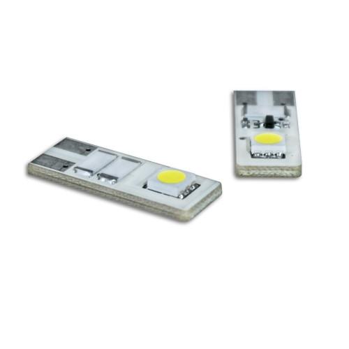 Stiftsockel Leuchtmittel, 2 SMD LED, weiß, T10, DC12 V / 3.5 W, 2 Stück (Im Bereich der StVZO nicht zugelassen - Export)