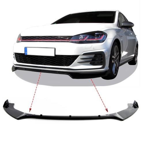 Frontspoilerlippe Frontflap Spoiler Splitter für Golf 7, nur für GTI passend für Golf 7 GTI  Baujahr 2012 - 2021