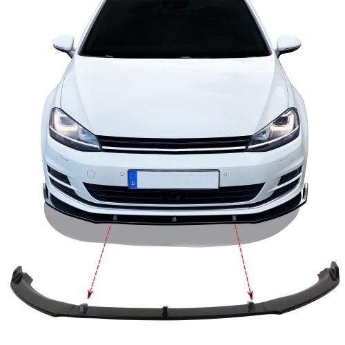 Frontspoilerlippe Frontflap Spoiler Splitter für Golf 7, nicht für GTI,GTD, R-Line  passend passend für Golf 7 Baujahr 2012 - 2021