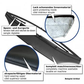 Car bra, bonnet protection for BMW E46 Coupé (99-04), artificial leather, black passend für BMW E46 Coupe (99-04)