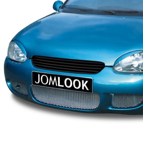 Kühlergrill, Sportgrill, ohne Emblem, schwarz passend für Opel Corsa B