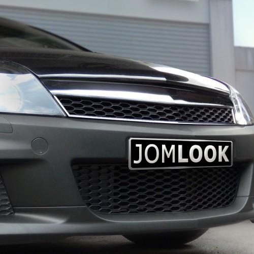 Kühlergrill JOM,  Sport Look, Chrom / schwarz passend für Opel Astra H 3 Türer Bj. 05-07