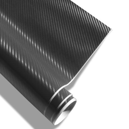 Carbonfolie JOM, Schwarz XXL 152 x 200 cm, 3D Struktur, geeignet für Innen u. Außen, Selbstklebend, PVC, mit Luftkanälen, trocken aufziehbar, wärmeformbar