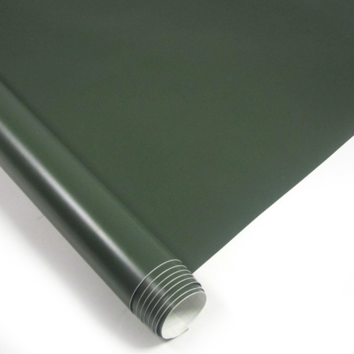 Stylingfolie im Army-Design,152 x 200 cm, Armygrün matt, Profifolie mit Luftkanälen, PVC