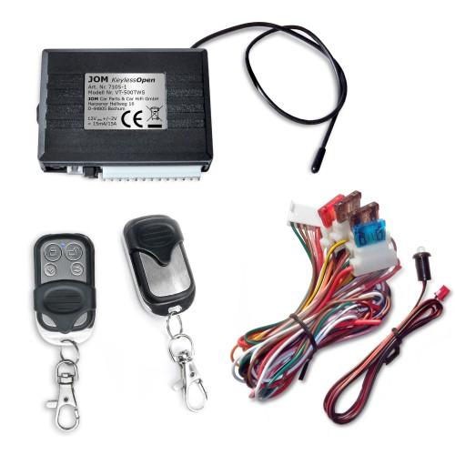Keyless Open, Funkfernbedienung für vorhandene Original-Zentralverriegelung, universal, mit 2 Mini-Funksender edelstahl