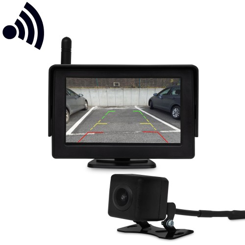 Professional Car Backup Reverse Camera  Wireless Rear View System 4,3 Inch Monitor, water proofed