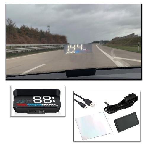 Auto Head Up Display, Digitale Anzeige: OBD 2 & GPS HUD Geschwindigkeitsmesser, Drehzahlmesser, Batteriespannung, Wassertemperatur