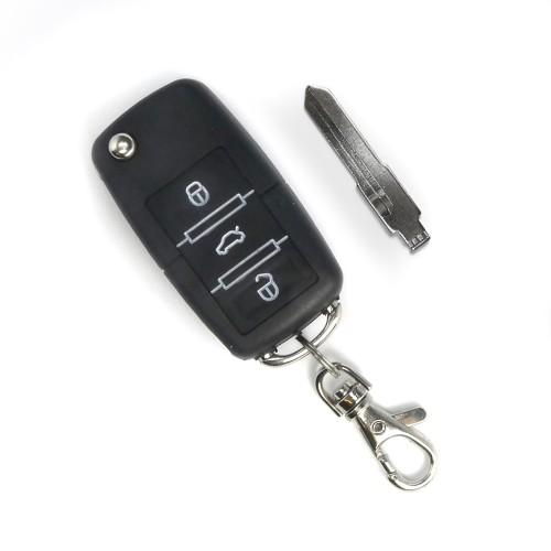 Handsender mit 3 Knopf Funktion, Klappschlüssel mit Platz für Transponder, schwarz passend für passend zu 7105 und 7104-2