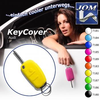 SchlüsselCover gelb für Audi A1 10-, A3 05-, A4 04-, A4 Cabrio 06-, A6 04-, Q7 05-, TT 06-, R8 07-, Silikon