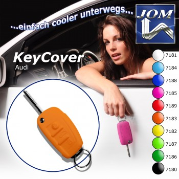 SchlüsselCover orange für Audi A1 10-, A3 05-, A4 04-, A4 Cabrio 06-, A6 04-, Q7 05-, TT 06-, R8 07-, Silikon