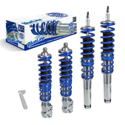 BlueLine Gewindefahrwerk passend für VW Golf 3, Vento 10.91-9.97 (1HXO) und Golf 3 Cabrio (1EXO), außer Modelle mit Allradantrieb oder Variant-Modelle